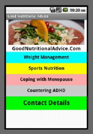 Good Nutritional Advice