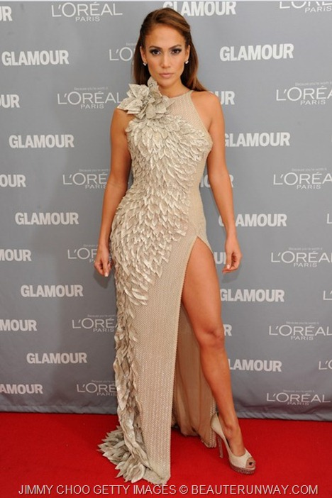 JENNIFER LOPEZ JIMMY CHOO SUGAR SHOES - GLAMOUR WOMEN OF THE YEAR AWARDS 2011