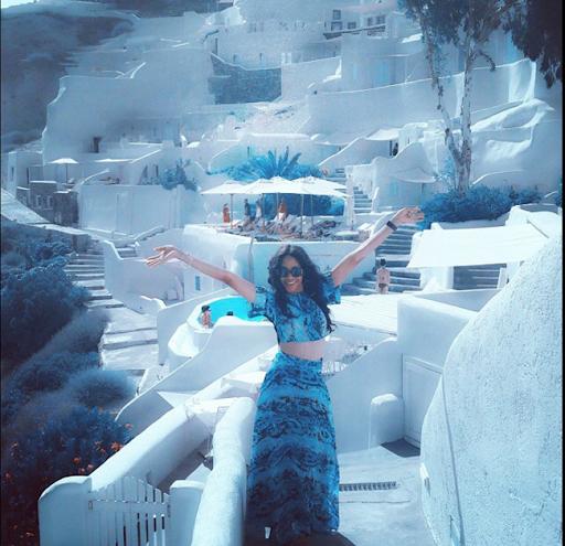 PHOTOS: Sylvia Nduka And Ene Maya's Vacation in Santorini Greece 11