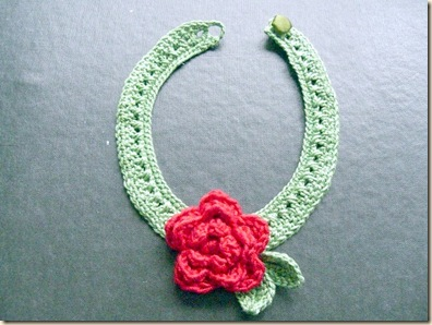 Crochet Rose choker