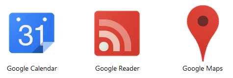 New Chrome icons for Calendar, Reader and Maps