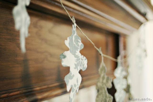 Linen Oak Leaf Garland