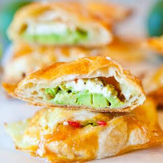 Avocado, Cream Cheese, and Salsa-Stuffed Puff Pastries.