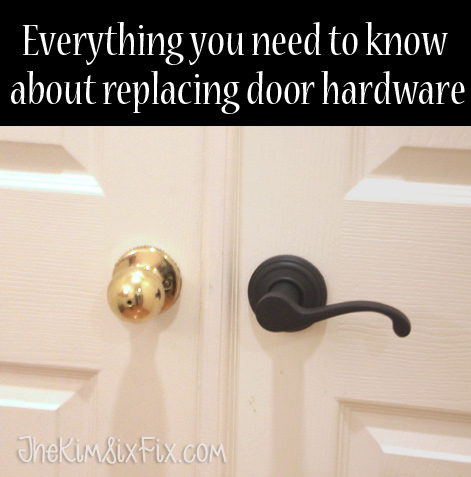 How to replace door hardware