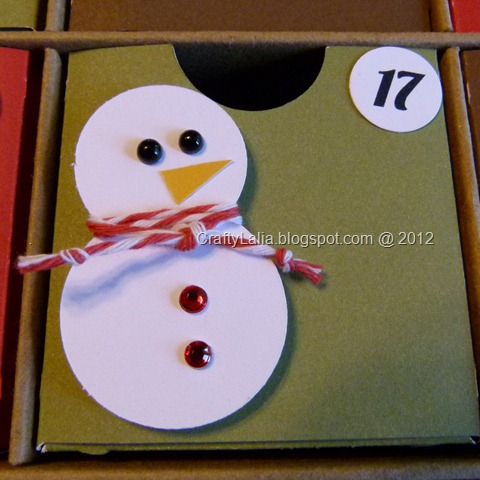 CTMH Cricut Artiste snowman Advent Calendar with Harvest Baker's Twine