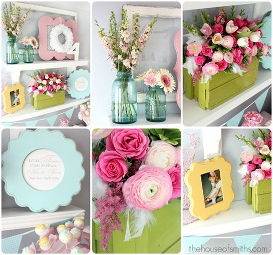 Girly-Birthday-Party-Turquoise-yellow-and-pink-party