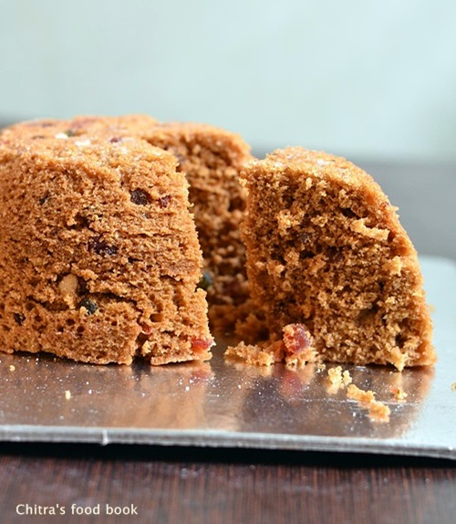 Microwave plum cake