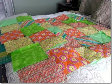 Pickles And Cheese Baby Rag Quilt