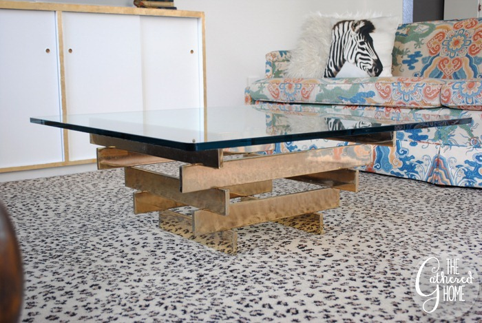 vintage brass stacked coffee table8