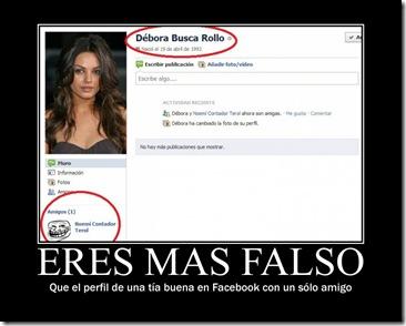 Perfíl falso de Facebook