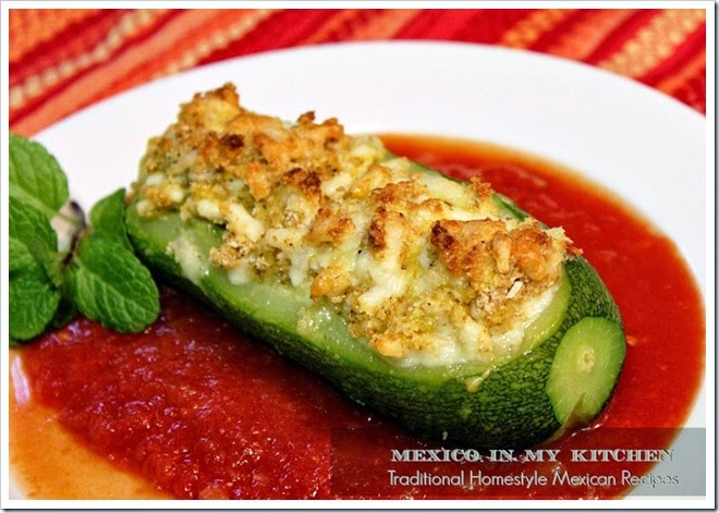 Cheese Stuffed Zucchini | Calabacitas Rellenas de Queso