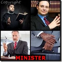 MINISTER- 4 Pics 1 Word Answers 3 Letters