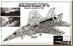 F-15 Prototype Cut Away Drawing