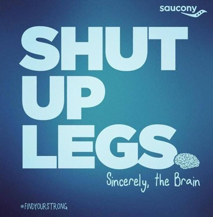 Shut Up Legs - marathon training tips