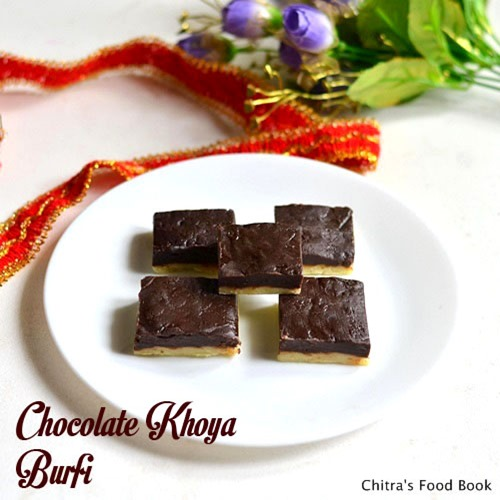 Chocolate-khoya-burfi