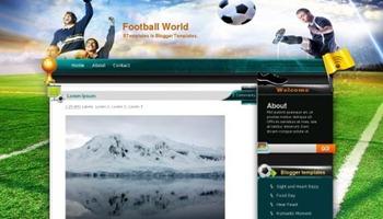 шаблон блога о футболе