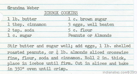 Gr Weber's Icebox Cookies