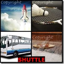 SHUTTLE- 4 Pics 1 Word Answers 3 Letters
