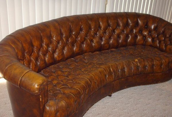 Leatherchesterfield4 A Vintage 1970 S Tufted Leather Sofa