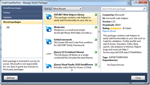 ChartHelper-ASP.NET Web Helpers Library Pacakge