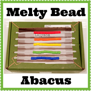 DIY Abacus with Melty Hama Perler Beads from Lalymom