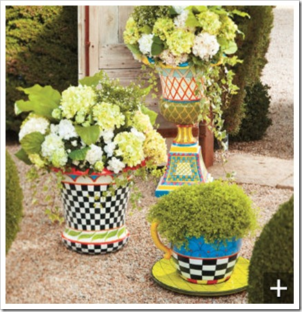 Whimsical Hand Painted Planter Sand And Sisal