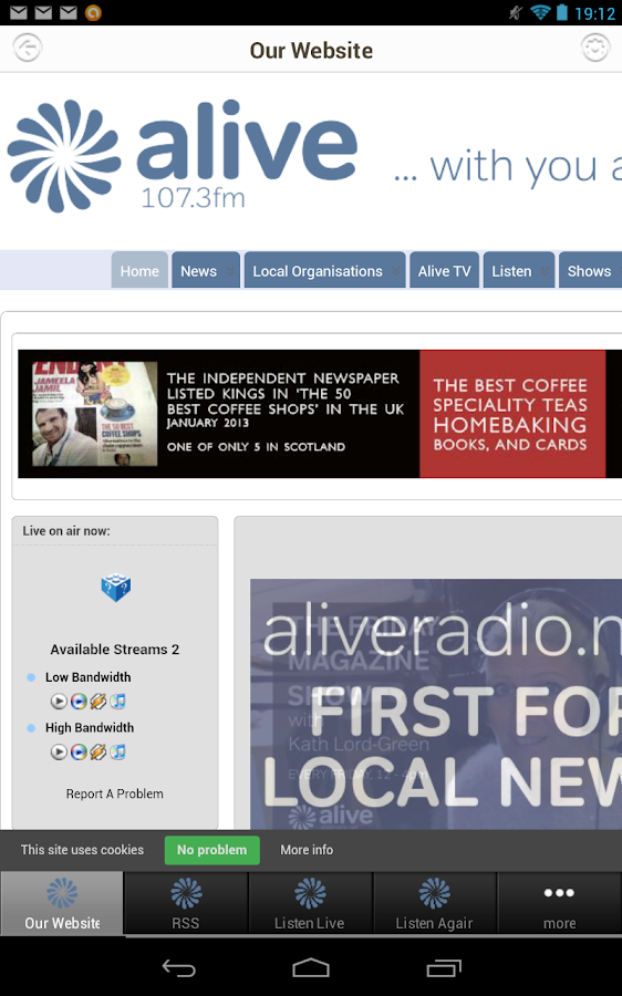 Alive Radio 107.3FM- screenshot