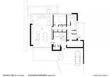 plano-casa-casa-B-Wald -house-Alexander-Brenner-Architects