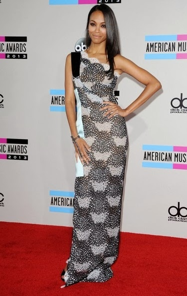 Zoe Saldana-2013 American Music Awards