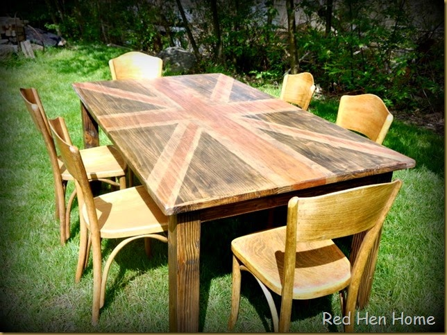 Red Hen Home Union Jack Dining Table