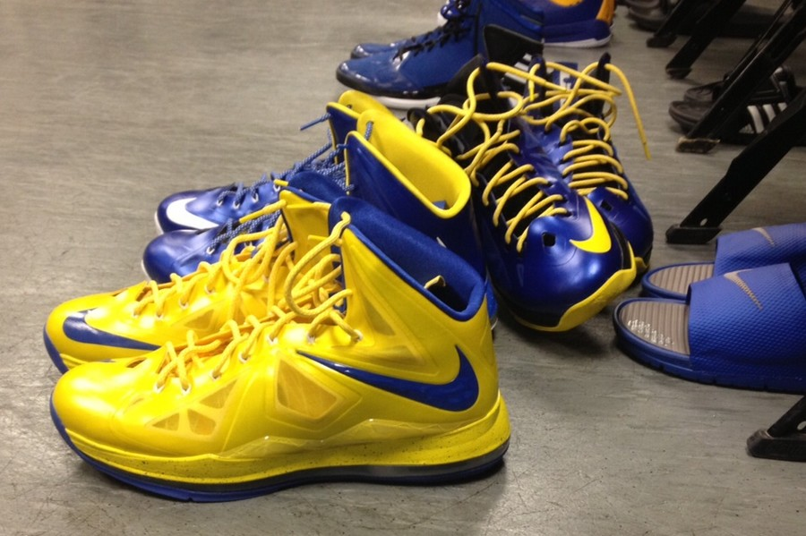 wholesale dealer 7dc07 6b845 Golden State Warrior Draymond Green8217s LeBron X iD Collection ...