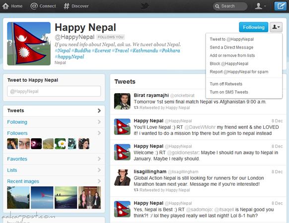 new twitter happy nepal