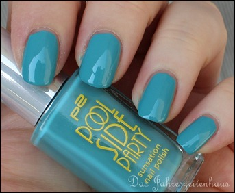 0 P2 Limited Edition LE Pool Side Party Nagellack 020 Turquoise Sky 2