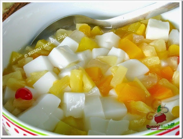 ALMOND JELLY WITH FRUIT SALAD © BUSOG! SARAP! 2010
