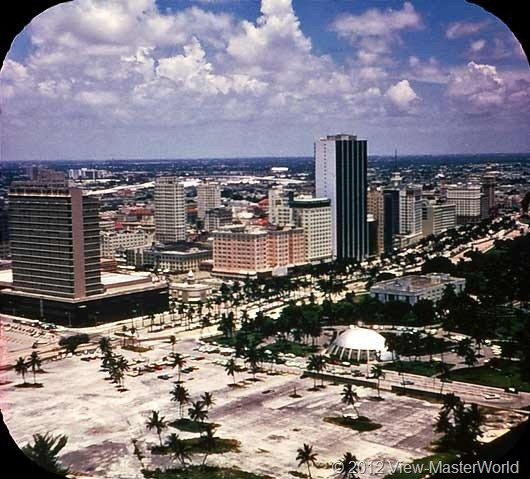 View-Master Miami and Miami Beach (A963), Scene 1: Downtown Miami from the Air