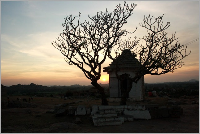 Sunset at Jain temple