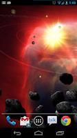 Screenshot of Asteroid Belt Live Wallpaper
