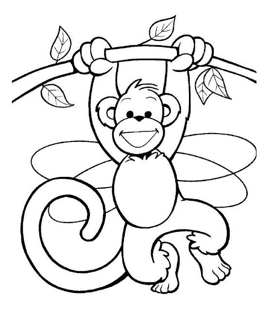 Dibujos Para Colorear Monos
