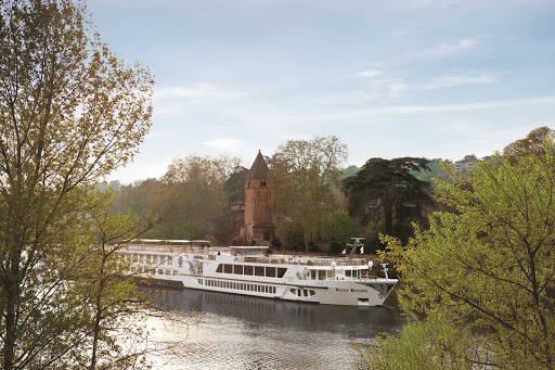 Uniworld-River-Royale-in-Lyon-France - Travel on Uniworld's S.S. Bon Voyage (formerly River Royale) and explore the hidden treasures of Lyon, France, as you cruise along the canal.