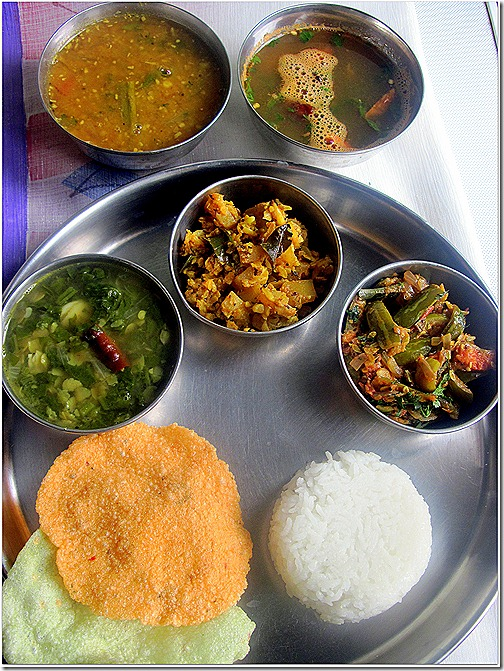 Andhra thali andhra lunch menu chitras food book andhra thali forumfinder Image collections