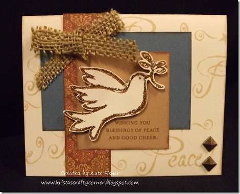 Kate Fishers peace-dove card