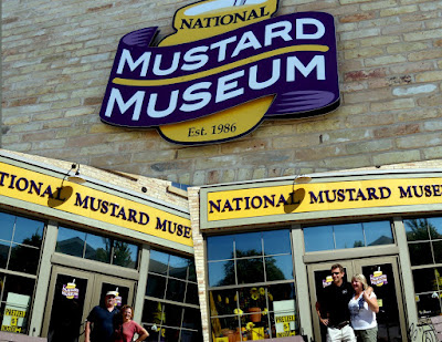Jim and Chris, Phil and Tracey at the Mustard Museum.  Good Stuff!!