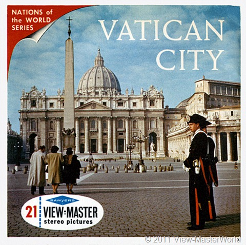 View-Master Vatican City (B178), Packet Cover