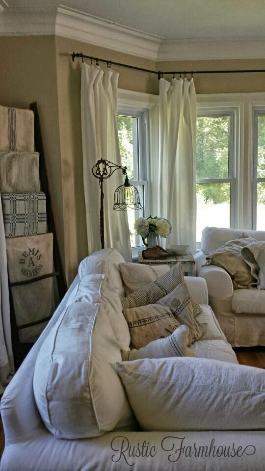 Rustic Farmhouse: Late Summer on Farmhouse Living Room Curtain Ideas  id=40169