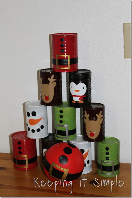 Christmas bowling cans (8)
