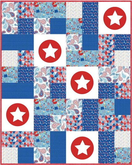 Military Max quilt tutorial using Summer Celebration fabrics