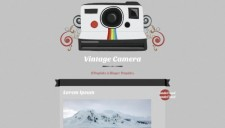 Vintage camera blogger template 225x128
