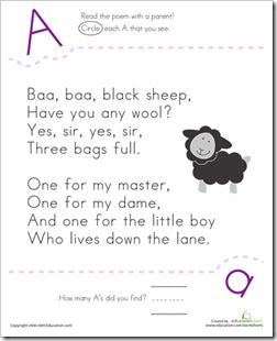 Preschool Alphabet: Nursery Rhyme ABCs