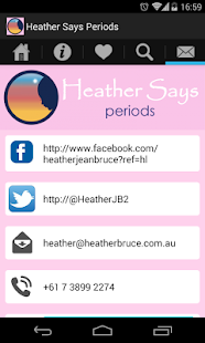 Heather Says Periods App- screenshot thumbnail