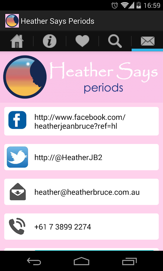 Heather Says Periods App- screenshot